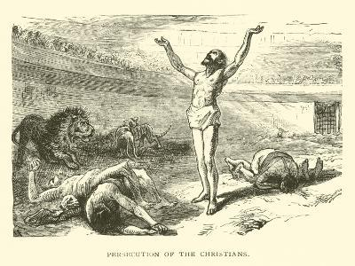 Persecution of the Christians--Giclee Print