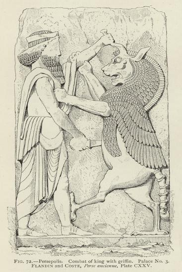 Persepolis, Combat of King with Griffin, Palace No 3--Giclee Print