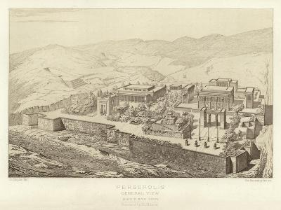 Persepolis, General View, Bird's Eye View, Restored by Ch Chipiez--Giclee Print