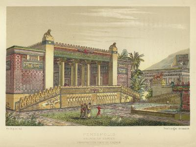 Persepolis, Palace of Darius, Perspective View of Facade--Giclee Print