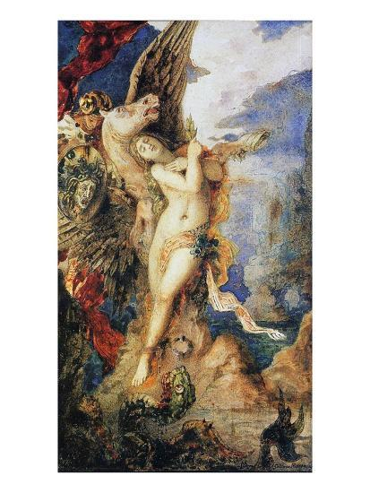 Perseus and Andromeda, C.1867-69 (W/C and Pen on Paper)-Gustave Moreau-Giclee Print