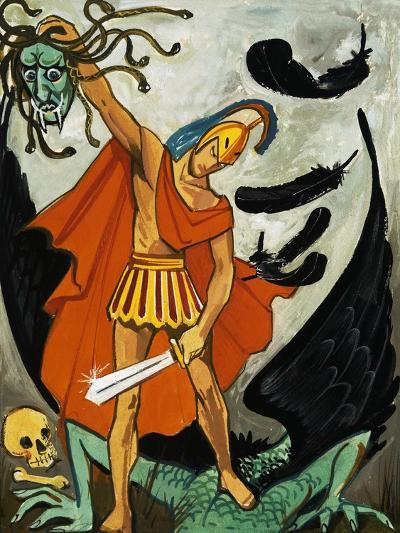 Perseus and the Medusa--Giclee Print