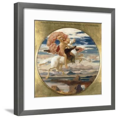 Perseus on Pegasus Hastening to the Rescue of Andromeda-Frederick Leighton-Framed Giclee Print