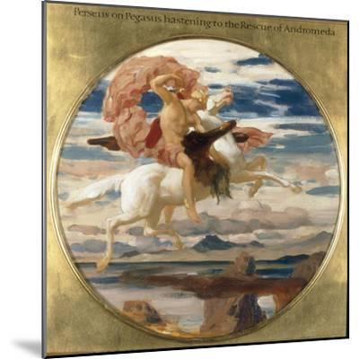 Perseus on Pegasus Hastening to the Rescue of Andromeda-Frederick Leighton-Mounted Giclee Print
