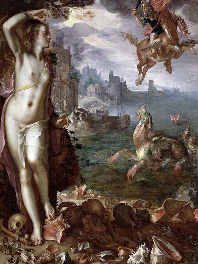 Perseus Rescuing Andromeda, 1611-Joachim Wtewael Or Utewael-Giclee Print