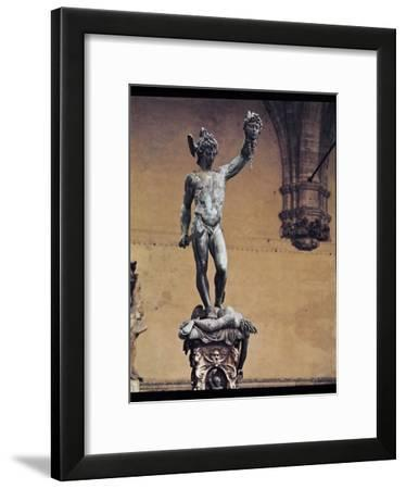 Perseus with the Head of Medusa, 1545-53-Benvenuto Cellini-Framed Giclee Print