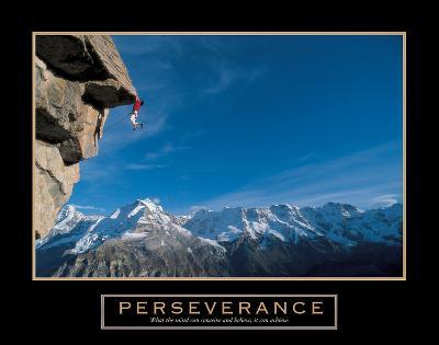 Perseverance ? Cliffhanger-Unknown-Art Print