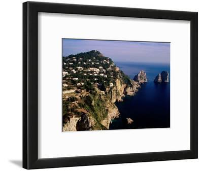 Rocky Coastline and Isola Faraglioni Offshore Rocks from Gardens of Augustus, Capri, Italy