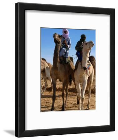 Two Taureg Men on Camels at Sahara Festival, Douz, Tunisia
