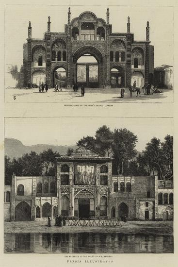 Persia Illustrated--Giclee Print