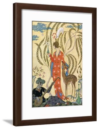 Persia-Georges Barbier-Framed Art Print