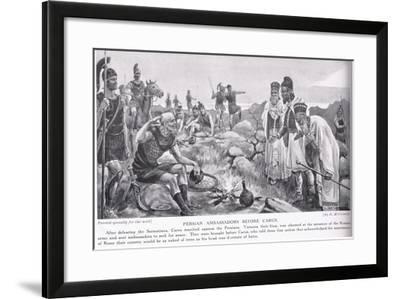 Persian Ambassadors before Carus--Framed Giclee Print