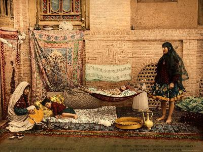 Persian Family in a House of Teheran--Photographic Print