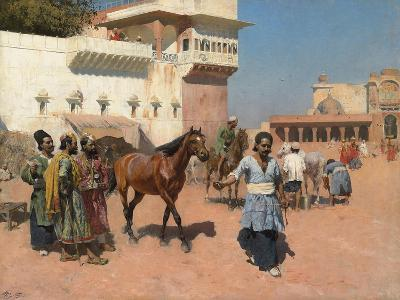 Persian Horse Dealer, Bombay, 1880s-Edwin Lord Weeks-Giclee Print