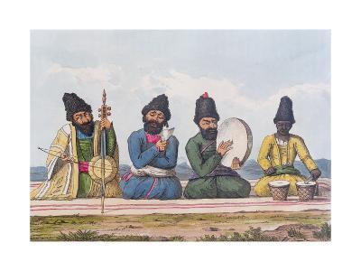 Persian Musicians from A Second Journey Through Persia 1810-16-James Justinian Morier-Giclee Print