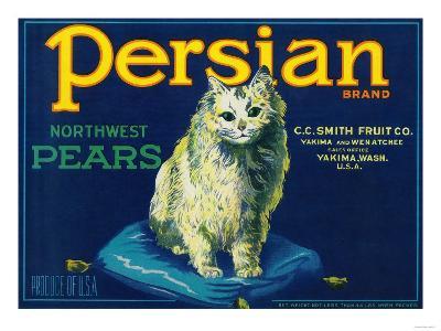 Persian Pear Crate Label - Yakima, WA-Lantern Press-Art Print