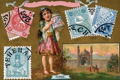 Persian Postage Stamps, 1897--Giclee Print