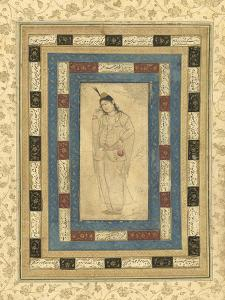 A Standing Lady, Isfahan, c.1620-25 by Persian School