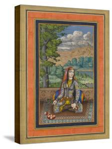 """Portrait of a Persian Lady"", Folio from the Davis Album, c.1736-37 by Persian School"