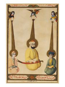 The First Three Shiite Imams: Ali with His Sons Hasan and Husayn by Persian School