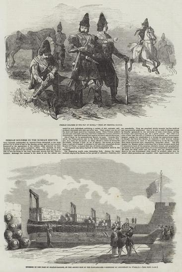 Persian Soldiers in the Russian Service--Giclee Print