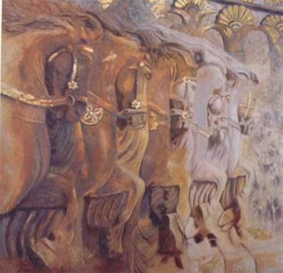 Persian Stallions-Rumi-Art Print