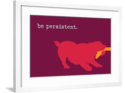 Persistent - Red Version-Dog is Good-Framed Art Print