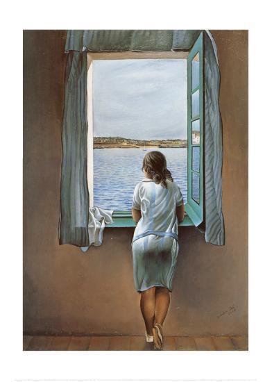 Person at the Window-Salvador Dal?-Art Print