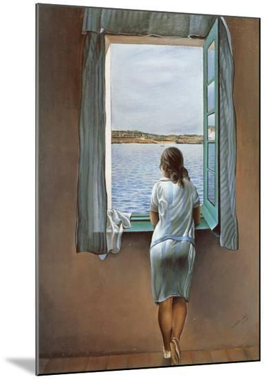 Person at the Window-Salvador Dal?-Mounted Print