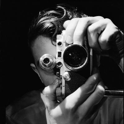 Person Holding Camera to Face. Winner of Life Photo Contest. We Do Not Have a Name-Andreas Feininger-Photographic Print