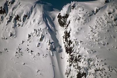 Person Snowboarding Down Chute at Eaglecrest Ski Resort Douglas Isl Near Juneau Alaska Se Winter-Design Pics Inc-Photographic Print