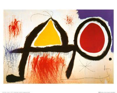 Personagge Devan Le Soleil-Joan Mir?-Art Print