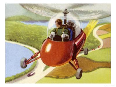 Personal Helicopter--Giclee Print