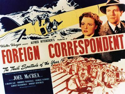"Personal History, 1940 ""Foreign Correspondent"" Directed by Alfred Hitchcock--Giclee Print"