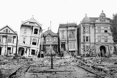 Personal Snapshot of Immediate Post-Earthquake San Francisco in 1906.-Kirn Vintage Stock-Photographic Print