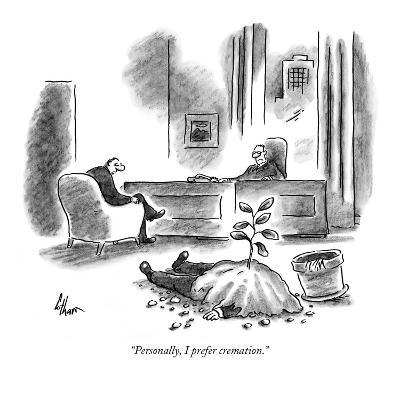 """Personally, I prefer cremation."" - New Yorker Cartoon-Frank Cotham-Premium Giclee Print"