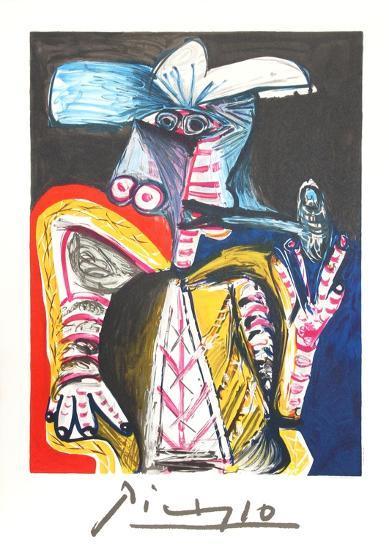 Personnage a la Pipe-Pablo Picasso-Collectable Print