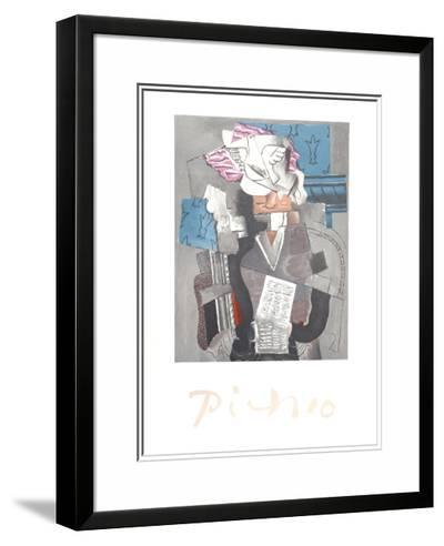 Personnage et Colombe-Pablo Picasso-Framed Art Print