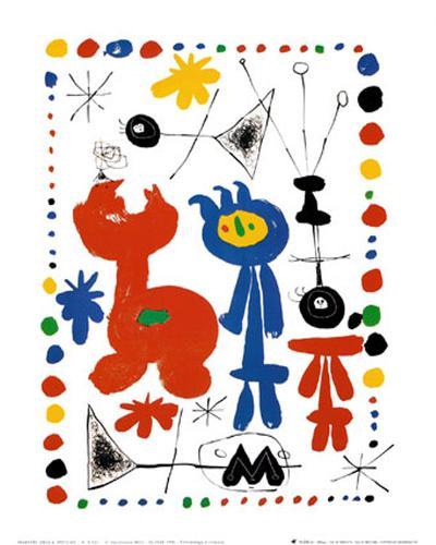 Personnage et Oiseaux-Joan Mir?-Art Print