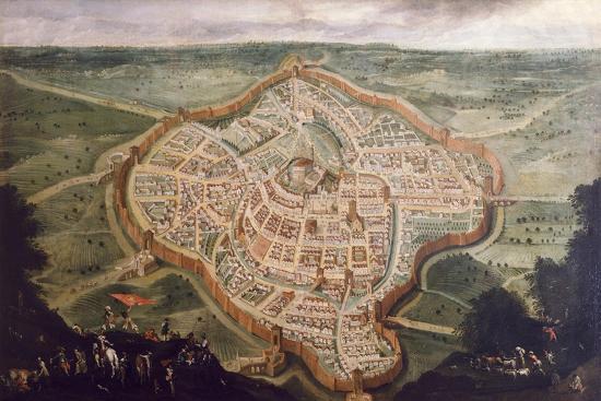 Perspective Map of Udine-Luca Carlevaris-Giclee Print