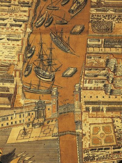 Perspective Map of Venice Dockyard, 1798-Giandomenico Cignaroli-Giclee Print