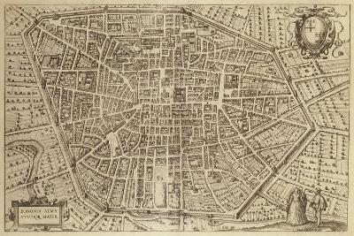 Perspective Plan of Bologna from Bononia Alma Studiorum Mater, 1575--Giclee Print