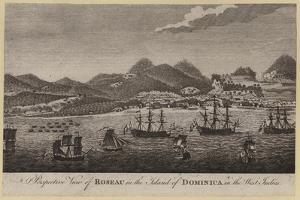 Perspective View of Roseau in the Island of Dominica in the West Indies