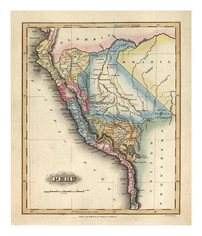 Peru, c.1823-Fielding Lucas-Art Print