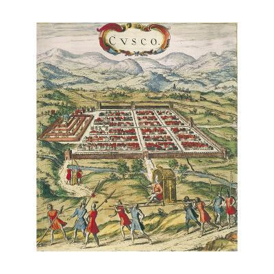 Peru, Cuzco, City of Cuzco by Georg Braun, 1594--Giclee Print