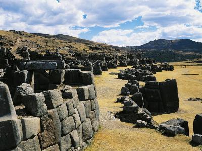 Peru, Cuzco, Inca Archaeological Site, Sacsahuaman Fortress--Giclee Print