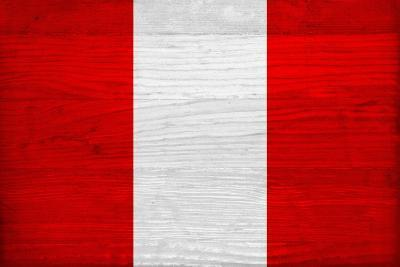 Peru Flag Design with Wood Patterning - Flags of the World Series-Philippe Hugonnard-Art Print