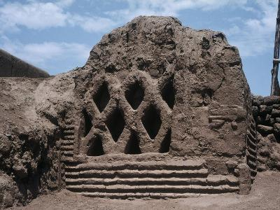 Peru, La Libertad, Wall Carvings at Chan Chan Archaeological Site--Giclee Print