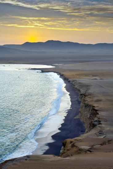 Peru, Paracas National Reserve, Lagunillas Bay, Sunset, Pacific Ocean, Ica Region-John Coletti-Photographic Print