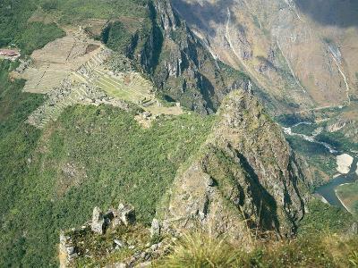 Peru, Urubamba Valley, Inca Civilization, Machu Picchu Inca Ruins and Urubamba Gorges--Giclee Print